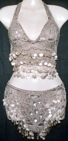 Silver Bell Belly Dance Costume