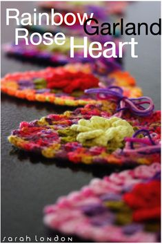 STORE | Sarah London Crochet Bunting, Crochet Flowers, Crochet Garland, Crochet Hearts, Crochet Granny, Crochet Motif, Crochet Hooks, Love Crochet, Crochet Squares