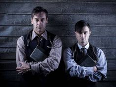 "The stars of ""A Young Doctor's Notebook,"" Jon Hamm and Daniel Radcliffe, looking very dieselpunk in a movie that is otherwise not at all related to the genre. Posted as good visual reference."