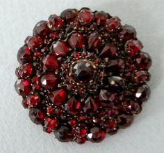 A Bohemian Garnet Cluster Brooch, Circa Antique Rings, Antique Jewelry, Vintage Jewelry, Garnet Stone, Red Garnet, Garnet Jewelry, Pearl Jewelry, Vintage Costume Jewelry, Vintage Costumes