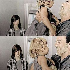 Negan holding Judith and Carl is just there like BITTTCH GET YOUR HANDS OFF MY SISTER