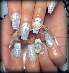 NAIL ART / WHITE NAILS / CRYSTAL HEARTS / COFFIN NAILS / HEART NAILS / MONROE NAILS / SQUARE NAILS / GLITTER NAILS / GLITTER / CRYSTALS