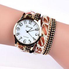 Popular fashion design iron tower Ladies Watches casual style bracelet watch women's apparel Geneva watch brand long chain