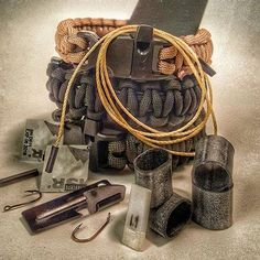 Wearable Survival Kits built into 550lb Paracord Bracelets. Custom design your own bracelet choosing from 80+ EDC tools, buckles, tactical gear, and options. USA crafted, Veteran owned and operated. For preppers, survivalists, operators.