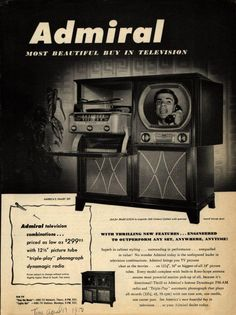 This was our first T&V. My parents bought it at Polk Bros. on Central Ave. 1953 ? Only difference is, that the radio/phonograph was on the right.