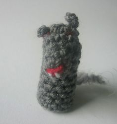 crochet puppet finger  small marionette Wolf  toys 6 by nutkaart