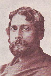 Rabindranath Tagore as a young man.