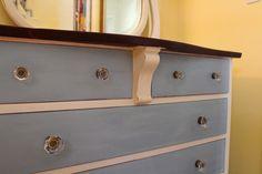 Chalk painted cottage dresser