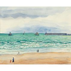 Albert Marquet - SABLES D'OLONNE, Watercolor and... on MutualArt.com