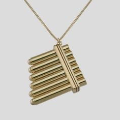 Peter Pan Flute Necklace 14 kt Gold Disney Jewelry NEW...