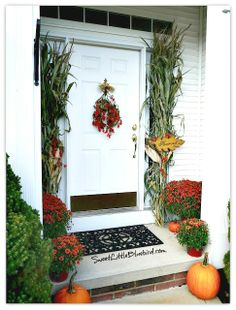 Bittersweet Vines and Berries Swag Wreath - Brighten your doorway this fall with a simple bittersweet swag!  Only  minutes to make!   SweetLittleBluebird.com