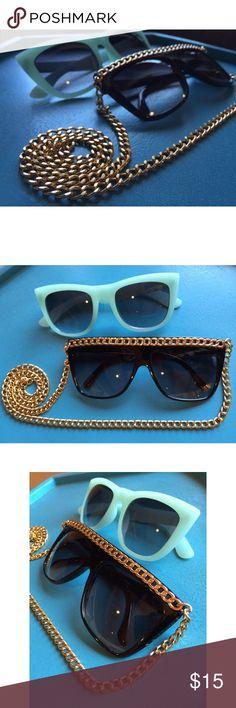 Sunglass Double Pack Sunglass Double Pack includes: Light Blue & Black Chain Frames. Accessories Sunglasses
