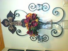 wrought iron & cross