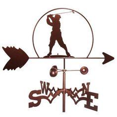 SWEN Products Male Golfer Weathervane - 1035-GARDEN