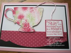 Babywipe Technique using Tea Shoppe from Stampin Up