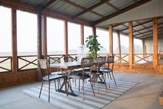 As seen on HGTV's Fixer Upper, this screened porch features an outdoor dining area. Outdoor Spaces, Outdoor Living, Indoor Outdoor, Outdoor Decor, Up House, House With Porch, Farm House, Joanna Gaines, Fixer Upper
