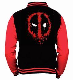 Deadpool Splat Logo Official Licensed Varsity Jacket - Nerd Merch