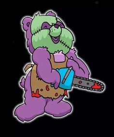 leatherface care bear by yayzus on DeviantArt Graffiti Characters, Cartoon Characters, Care Bear Tattoos, Trippy Drawings, Slasher Movies, Famous Monsters, Goth Art, Care Bears, Horror Art