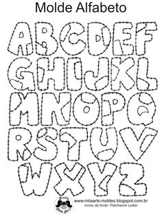 Color this 'patched up' alphabet. Hand Lettering Alphabet, Doodle Lettering, Creative Lettering, Graffiti Lettering, Lettering Styles, Calligraphy Letters, Fancy Fonts Alphabet, Lettering Tutorial, Fonte Alphabet