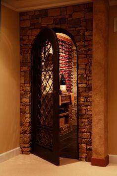 Wine room door with rockk