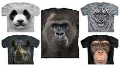 5 tricouri cu animale pe cale de disparitie din colectia Big Face Animals Orice, Canning