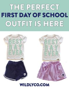 how genius are these first day of school outfits??