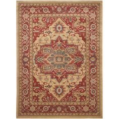 Old world elegance radiates from this 9' x 12' rug from Safavieh's Mahal Collection. Displaying dominant warm tones of rust, blue, teal, beige, and sage green, this rug features various shapes surroun