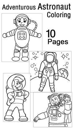 10 Adventurous Astronaut Coloring Pages Your Toddler Will Love