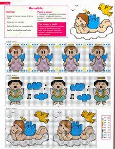 ♥Meus Gráficos De Ponto Cruz♥: Anjinhos para o Enxoval do Bebê em Ponto Cruz