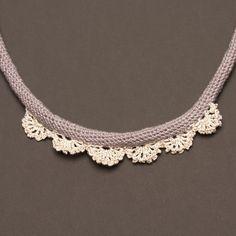 EL ENCAJE  gray crochet lace necklace unusual and by Sofistikhada, $37.00