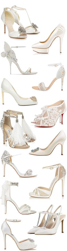 The Newest Bridal Shoes for Spring | Summer 2017 // see them all on www.onefabday.com