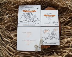 Love the hand drawn mountains…