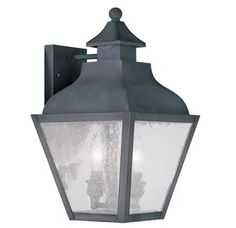 View the Livex Lighting 2451 Vernon Medium Outdoor Wall Sconce with 2 Lights at LightingDirect.com.
