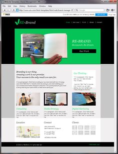 a fabulous and striking html template ready to go wix website