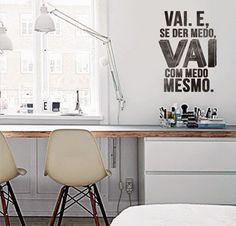 Adesivos com frases na parede