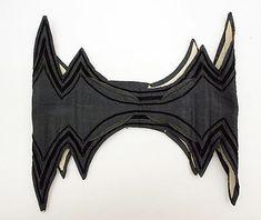 Corselet  Date: mid-19th century Culture: French Medium: silk - Kind of looks like a batman belt.