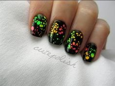 Water Spotted Nails...for those who can't get OPI Spotted