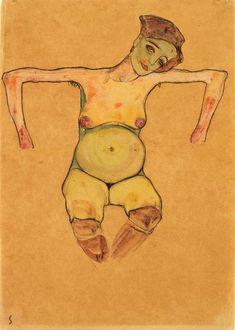 Egon Schiele - Reclining Pregnant Woman