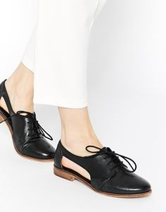 ASOS MIGHT YOU Cut Out Leather Jazz Shoes