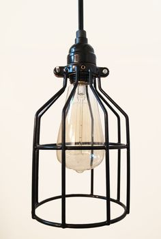 Tesla I Industrial Cage Pendant Lamp with Plug-in Cord | Amazon.com