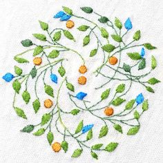 No pattern embroidery: Patricia Van Ness; Vines and Fruit #230