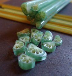 Making Lime Murrini - Lampwork Etc.