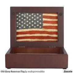 Old Glory American Flag Keepsake Box