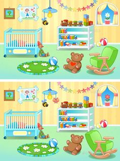 Buy Spot the Differences by ddraw on GraphicRiver. Spot the Differences. Kids Learning Apps, Educational Games For Kids, Interactive Learning, Find The Difference Pictures, Spot The Difference Kids, Montessori Activities, Kindergarten Activities, Activities For Kids, Fun Worksheets For Kids