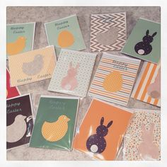 Simple design eater cards #Easter #chick #rabbit #bunny #egg