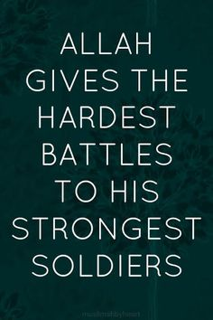 To all those that are struggling, keep the faith!