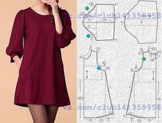 """2,442 Likes, 54 Comments - Dikiş Kalıpları ve Patronları (@dikiskalipvepatronlari) on Instagram: """"Ister #bluz ya da #Tunik isterseniz #elbise Desteklemek için lütfen yorum yapınız & begen butonuna…"""""""