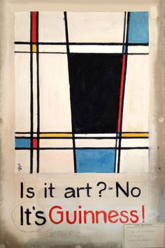 This is what a Guinness would look like if Mondrian drew it – The lost Guinness art: a talk at St Bride