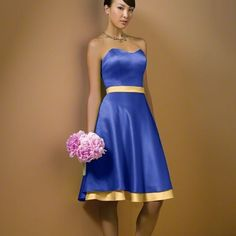 Alfred Angelo Dress In Royal Blue