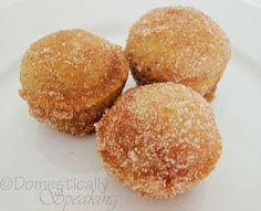 The original Pumpkin Poppers Recipe ~ Like a mini pumpkin donut made in a muffin tin.